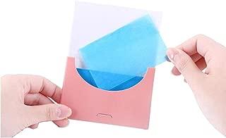 200 PCS Blue Film Oil Absorbing Tissue Facial Oil Control Blotting Paper Premium Flax Aloe Pulp Blotters Sheet Makeup Face Skin Care Product Beauty Accessories for Men Women