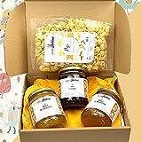 Caja degustación de miel 'tradicional'. Una selección de 3 tarros de cristal de 500 gr, de deliciosa miel natural, en un elegante paquete. Gran idea para un regalo. Casafolino