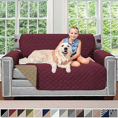 Best Sofa Shield Original Patent Pending Reversible Loveseat Protector for Seat Width up to 54 Inch, Furn