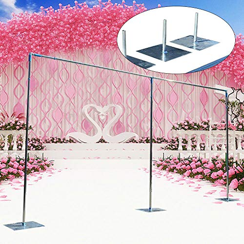 3x6M Decorative Wedding Adjustable Arch Backdrop Stand w/Bases Metal Wedding Archway Iron Frame Photo Booth Background Arch Stand for Ceremony Reception Party Events Garden Outdoor Ceremony Decor