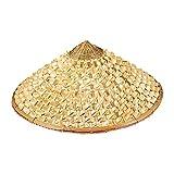 zxb-shop Chapeau de canotier Bamboo Coolie Chapeaux Chinois Chinese Asiatique Oriental...