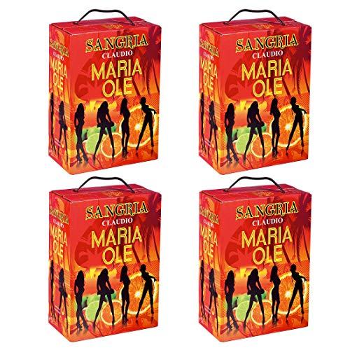 Bag-in-Box - Espagne - Sangria - Maria Ole - Frankreich - Mittelmeerraum - Rotwein, süß, Box mit:4 Boxen