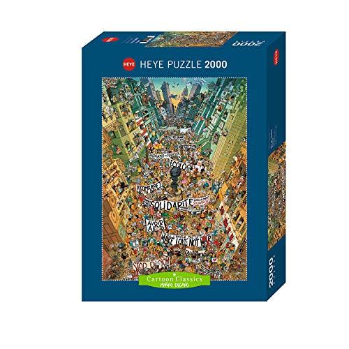 Heye- Protesta. 2000 Piezas, Marino Degano, Color Blanco (KV&H Verlag GmbH 29820)