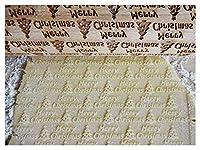 SHUHAO 木製ロールスティックエンボスベーキングビスケットヌードルビスケットファッジケーキ生地パターンローラースノーフレーク (Color : J)