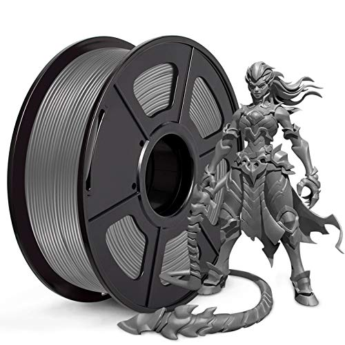 JAYO PLA+ 3D Printer Filament, PLA Plus Filament 1.75mm, Dimensional Accuracy +/- 0.02 mm, 1kg Spool (2.2 lbs), PLA+ Grey