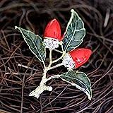 XZROOKEI Pin de Moda Avellana Fruta Bellota Broche Broche Pin Traje de Mujer suéter broches de Metal alfileres Ropa joyería