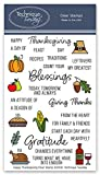 """STAMPS FOR SCRAPBOOKS AND CARD MAKERS - These stamps will help you make photo captions and journal cards. Search for """"Introducing the Happy Thanksgiving Stamp Set - Technique Tuesday"""" on YouTube! EXTRA VALUE - We pack as many stamps as possible into ..."""