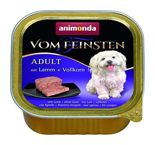 Nourriture pour chien Vom Feinsten Adult d'animonda, nourriture humide pour chien adulte, avec agneau + céréales complètes, 22 x 150 g