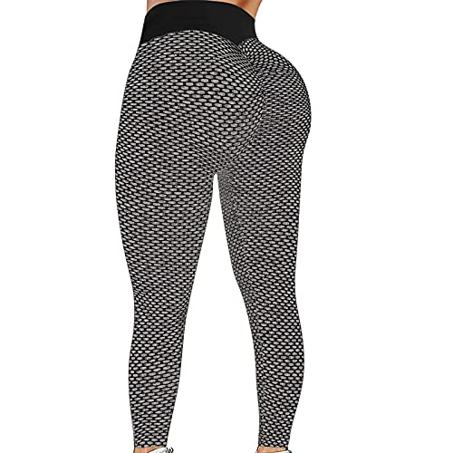 Btruely Leggins Mujer Fitness Deportivos Push up,Pantalon Elastico Tiro Alto Mujer,Pantalones Mujer Cintura Alta,Yoga Pants con Bolsillos,Levantamiento de glúteos Leggins reductores (Negro, XL)