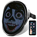 Face Transforming LED Mask - Electronic Changing Facial Cover with Bluetooth App, Programmable & Customizable Lighting Effect for Costume, Rave, Birthday Party, Music Festival, Halloween