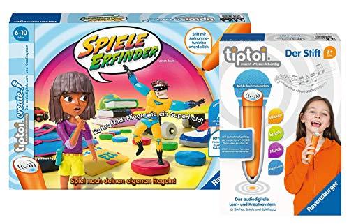 """tiptoi Ravensburger 00045 - Create """"Spiele-Erfinder"""". Wettlaufspiel für Kinder ab 6 Jahren + 00801 Stift mit Aufnahmefunktion"""