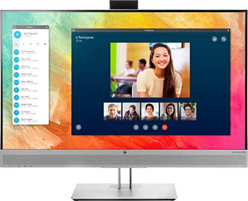HP - PC EliteDisplay E273m Monitor Business con Webcam e Casse Audio, Schermo 27  FHD 1920 x 1080 a 60 Hz, IPS, Antiriflesso, Tempo risposta 5 ms, Regolabile Inclinazione, Altezza e Pivoting, Argento