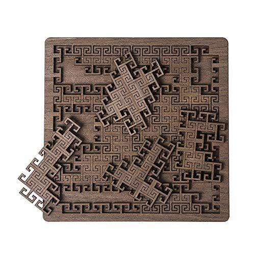 Puzzle Palacio En Forma De Rompecabezas Súper Difícil De Auto-tortura Sistema De Combustión Cerebral Madera Adultos Grupo Juegos De Construcción Regalos De Cumpleaños 0111