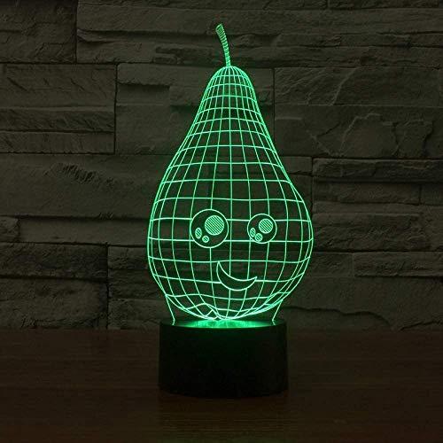 Schöne Birnenförmige Nachtlicht 7 Farbwechsel 3D Led Tisch Schreibtisch Lampe Cartoon Figur Kinder Nachtbett Schlaf Beleuchtung Dekor Geschenk