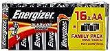 Energizer 944250 - Pilas alcalinas, pack de 16 unidades LR6 AA, multicolor