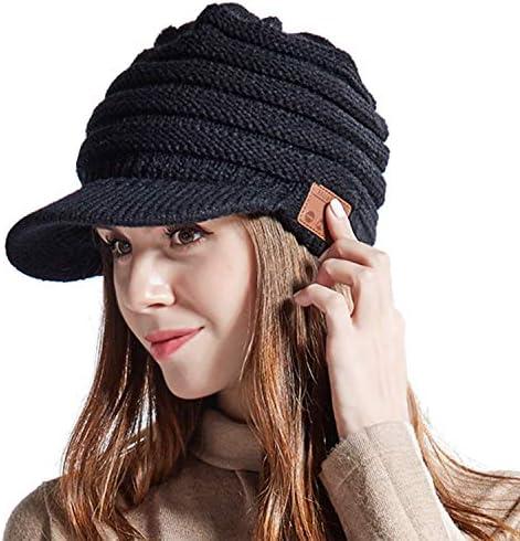 Women Bluetooth Newsboy Cabbies Beret Winter Beanie Warm Cotton Painter Crochet Knit Visor Hats product image