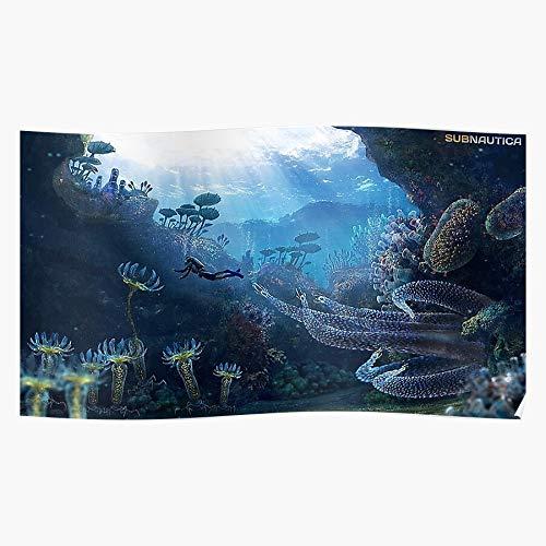Revolve Wild The In Water Themes Game Animal Subnautica Video Animals Underwater Beeindruckende Poster für die Raumdekoration, gedruckt mit modernster Technologie auf seidenmattem Papierhintergrund