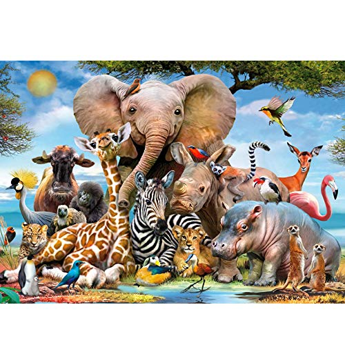 Coolzon Jigsaw Puzzle 1000 Piezas Puzzles, Educational Game para Adolescentes Adultos Niños Entretenimiento(Mundo Animal)