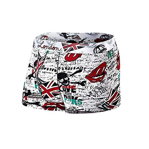 L-3XL Boxershorts Herren Nylon Unterwäsche Print Schlüpfer Männer Underwear Panties Unterhose Briefs Underpants Unterhosen Retroshorts CICIYONER