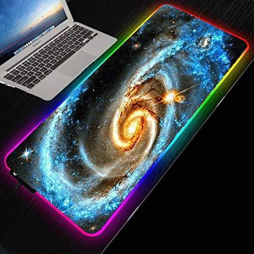 Podkładki pod mysz duża RGB LED kolorowa gwiazda przestrzeń gamingowa podkładka pod mysz gracz duży komputer biuro podkładka na biurko klawiatura 60 x 120 cm