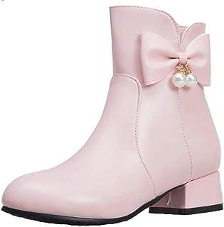 Low Heel Women's Wide Width Ankle Boots, PU Luxury Side Zipper Comfortable Ankle Boot