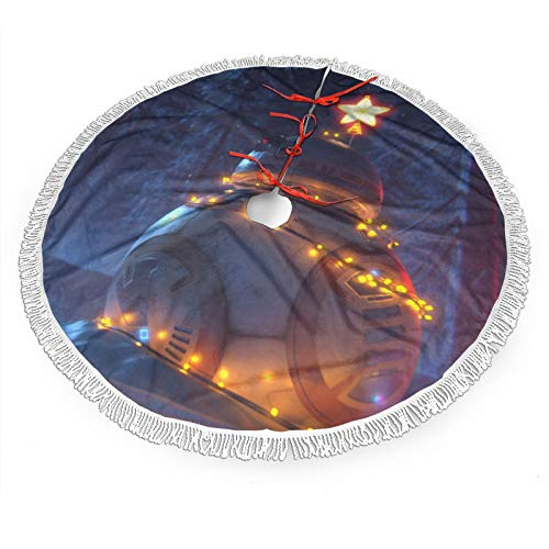 GmCslve Star Wars Christmas Christmas Tree Skirt 30 36 48 Inches Large Christmas Decorations Holiday Party Decor Ornaments48