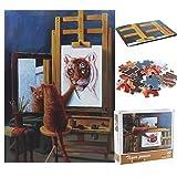Puzzle Pezzi, Puzzle 1000 Pezzi, Puzzle Animal,1000 Pezzi Puzzle Classici Animal Cartoon Cat Tiger Family Toy Puzzle Game Jigsaw Puzzle classici 1000 Pezzi
