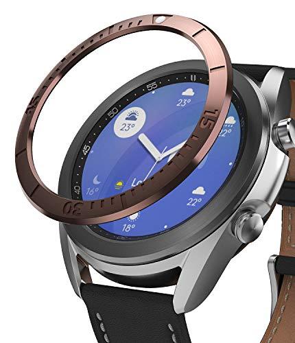 Ringke Bezel Styling für Galaxy Watch 3 41mm Hülle, Lünette Ring Kleber Abdeckung Kratzfest Edelstahl Schutz für Galaxy Watch3 Zubehör - Gold [41-02]