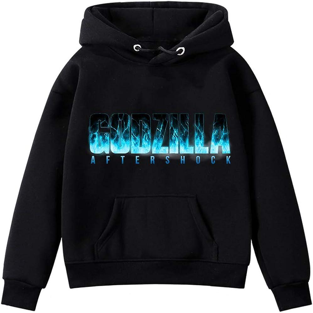Godzilla Pullover Ocio Suave Elegante Outwear el su/éter de Manga Larga de Las Capas m/ás Fino Airy Sudaderas Todo-F/ósforo de la Camiseta for ni/ños y ni/ñas ni/ños y ni/ñas