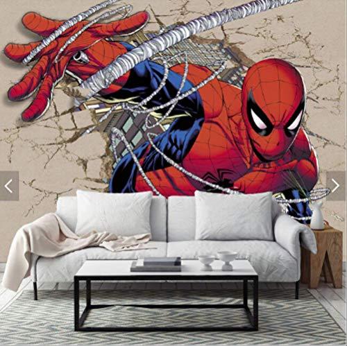 Aangepaste Kinderen Behang, Spider-Man,3D Cartoon muurschilderingen voor Kinderkamers Woonkamer Bank Achtergrond Waterdicht Behang