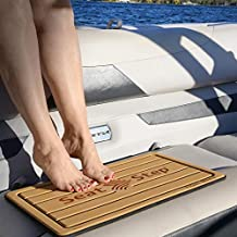 Tidal Wake Seat Step Marine Mat-Protect Boat Cushions, Prevent Upholstery Damage, Tears & Dirt from Stepping on Seats (Taupe Neutral/Black)