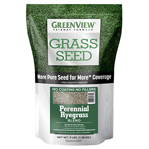 GreenView 2829353 Fairway Formula Grass Seed Perennial Ryegrass Blend, 3 lb