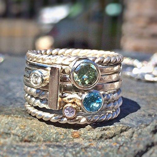 Silver Galaxy Stacking ring
