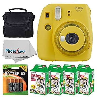 Fujifilm instax Mini 9 Instant Film Camera + Fujifilm Instax Mini Twin Pack Instant Film (80 Shots) + Camera Case + AA Batteries + Accessory Bundle by FUJIFILM