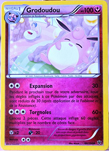Pokemon Carte 66/124 Grodoudou 100 PV Xy - Impact des Destins