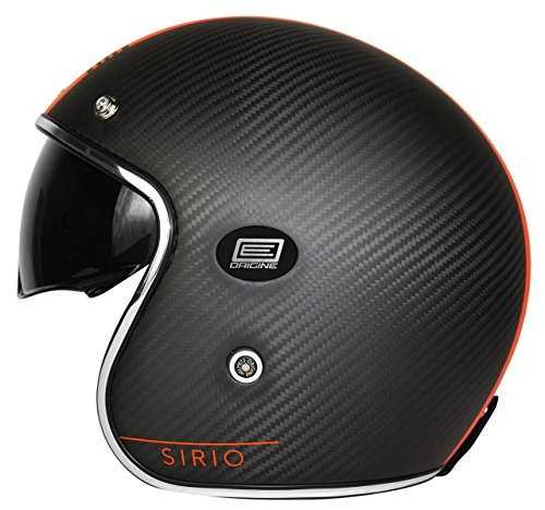 Origine Helmets 202587025100705 Sirio Style Casco Jet in Fibra di Carbonio, Arancio, L