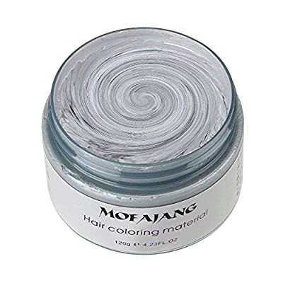 MOFAJANG Unisex Hair Wax Color Dye Styling Cream Mud, Natural Hairstyle Pomade, Washable Temporary,Party Cosplay