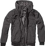 Brandit Bronx Hombre Chaqueta de Invierno Negro L, 100% algodón, Regular