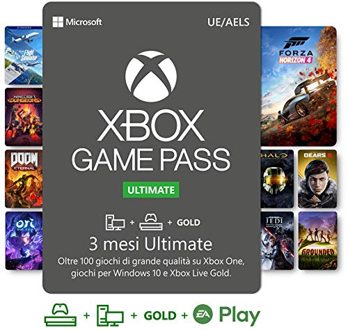 Abbonamento Xbox Game Pass Ultimate - 3 Mesi | Xbox/Win 10 PC - Download Code (Scaricare software)