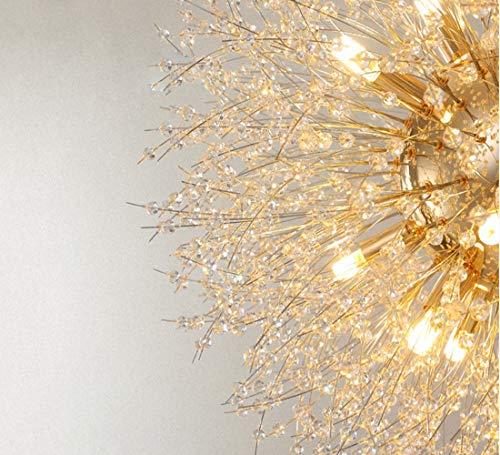 Dellemade Sputnik Kronleuchter 8-Licht Golden Luxuriöse Pendelleuchte für Schlafzimmer, Wohnzimmer, Esszimmer - 6
