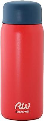 Reach Will魔法瓶 水筒200ml 軽量 真空2重構造ステンレスマグボトル 保温保冷 レッド RHC-20MRD