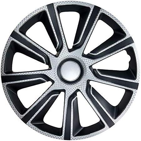 Cm Design 14 Zoll Veron Carbon Schwarz Silber Radkappen Radblenden Radzierblenden Auto