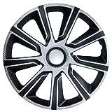 CM DESIGN 15 Zoll Veron Carbon schwarz Silber Radkappen Radblenden Radzierblenden