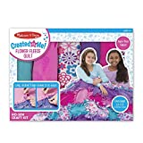 Melissa & Doug Created by Me! Flower Fleece Quilt No-Sew Craft Kit (48 squares, 4 feet x 5 feet)
