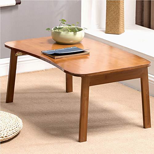HCYTPL Bijzettafel, bamboehout, laptoptafel, bed, eenvoudige klap, kleine tafel, leren bureau, klaptafel