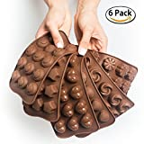Silicone Candy Molds + 5 Recipes eBook - Easy to Use & Clean Chocolate Molds - Silicone Molds For...