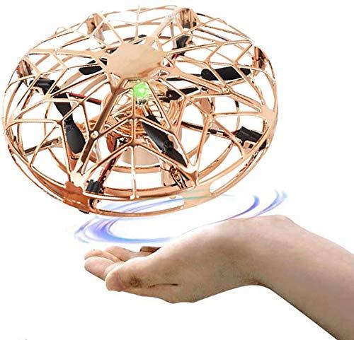 harupink Mini UFO Drone Giocattolo, Mini Drone Palla Volante Giocattolo Flying Ball Toy Aerei ad Induzione ad Infrarossi Rotanti a 360 °con luci a LED, Regali per Ragazzi e Ragazze (giallo)