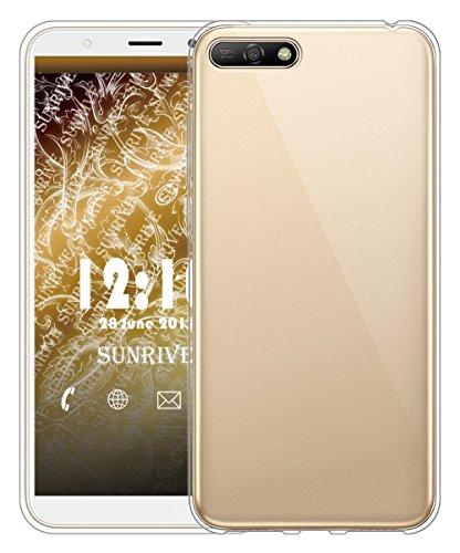 Sunrive Für Huawei Y5 2018/Honor 7S Hülle Silikon, Transparent Handyhülle Schutzhülle Etui Hülle für Huawei Y5 2018/Honor 7S(TPU Kein Bild)+Gratis Universal Eingabestift