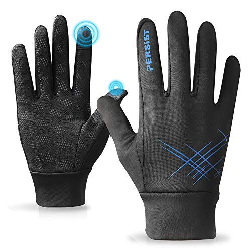 PERSIT Guantes Invierno Negros Ciclismo Bici MTB Bicicleta de Mujer Hombre Termicos Gel Impermeables Tactiles