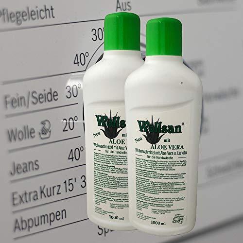 2L ALOE VERA WOLLSAN Waschmittel mit LANOLIN, Wollschampoo, Reinigungsmittel, Fellreinigung, Wollwaschmittel
